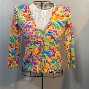 Chico's Sweater multicolored pattern